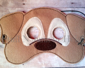Dog felt mask, Puppy mask, children's mask