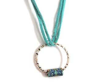 turquoise floral necklace