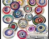 Journal It Circles #4 - Digital Art Supplies By Angie Young