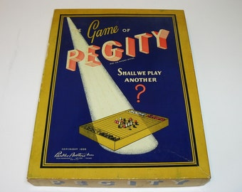 Vintage Toy - 1939 Parker Brothers PEGITY Peg Game
