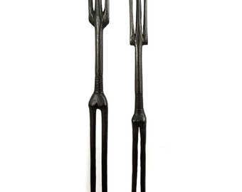 Nyamwezi Pair of Thin Figures Black Tanzania Africa 93666