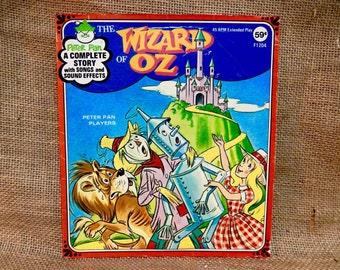 The Wizard of Oz - Vintage Vinyl 45 rpm Record Album