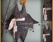Primitive Halloween Bat, Prim Bat, Primitive Halloween, Halloween FFFOFG
