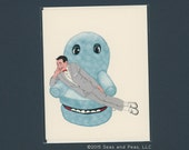 PEE-WEE & CHAIRY - Funny Any Occasion Card - Peewee Herman - Peewee Herman Card - Pee Wee's Big Adventure - Peewee's Playhouse - Funny Card