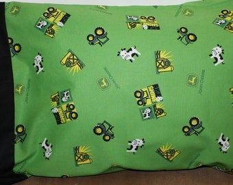 John Deer Pillowcase  Toddler/Travel and Standard Size