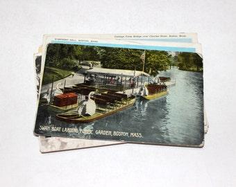 15 Vintage Boston Massachussetts Postcards Used