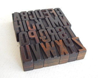 25% OFF - A to Z - Vintage Letterpress Wood Type Collection - VM026