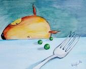 "Art Print ""No Peas, Please"""