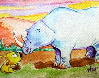 "Art Print ""Canis Rhinoceros"""