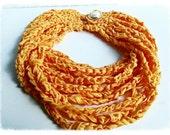 Yarn necklace, crochet