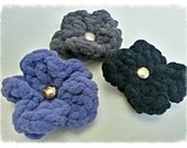 Flower pin - Set of three