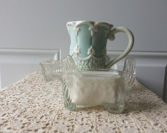 Vintage Scottie Creamer - 1930s, Clear Pressed Glass, Collectible, Retro, Gift Idea, Dog Lovers, Paperweight, Coin Holder, Desk Caddy