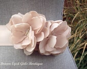Blush Bridal Sash , Blush Wedding Belt, Blush Floral Sash-Blush Chiffon Bridal Sash