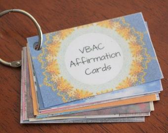 Inspirational VBAC Affirmation Cards