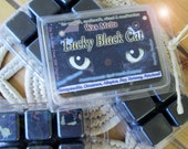 Lucky Black Cat! Good Fortune Love Herbal Wax Melts for Magick, Prayer, Spells or Ritual