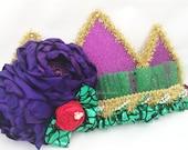 Sparkle crown mermaid theme  ( birthday crown , princess crown , cake smash , prop ) by Austenland