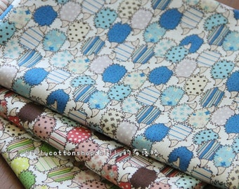 w279_55 - Hedgehog fabrics - ( 3 color to choose) in Half Yard