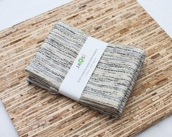 Large Cloth Napkins - Set of 4 - (N3135) - Stone Brown Gray Modern Reusable Fabric Napkins