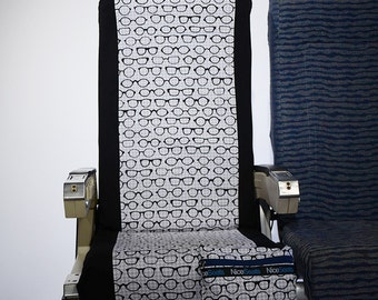 Airplane Seat Cover- Nerd Glasses- Nice Seats- Great on Planes, Buses, Trains & Movie Theaters- Make a Clean Getaway