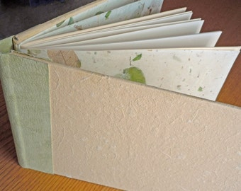 Peach and Pistachio Blank Guest Book or Album