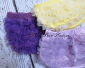 Birthday Diaper Cover - Baby Bloomers - Chiffon Ruffle Diaper Cover - Birthday Bloomers - Purple Lavender Yellow Red Ivory Aqua Blue Pink