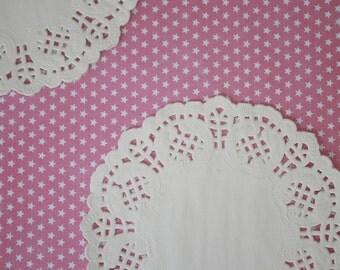 "100 white paper lace doilies, 3.5"""
