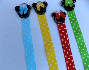 Mouse hair clip / Bow Holder Organizer bow holder minnie clip holder  bow holder