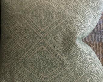 3BM Designer Pillow Cover Lumbar, 16 x 16, 18 x 18, 20 x 20, 22 x 22 - Nate Berkus Prussian Embroidered Mineral