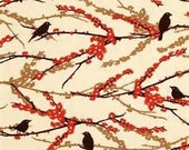 Birds of a feather fabric 2 yards custom listing for M