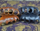 Heavy Leather Knuckle Guards, Shinai Training, Swordplay, Biker, Steampunk. Mechanic