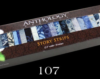 Anthology Batik Fabric Batik Story Strips 5 Options No. 1