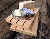 TWO LARGE Cedar Natural Wood Spa Soap Decks 4 X 7    Organizer    Natural Wood    Soap Saver