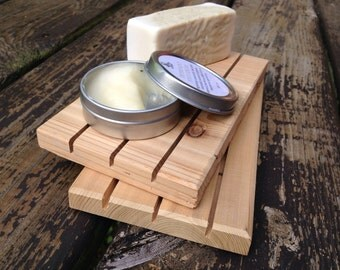 LARGE Cedar Natural Wood Spa Soap Decks|| Set if 2 || 4 X 7 || Organizer || Natural Wood || Soap Savers || Soap Dishes