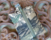 Real Tree Camo, mini zipper pouch. key chain bag, eos bag, change pouch, essential oil bag