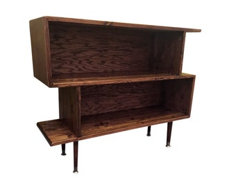 Mid Century Inspired Bookshelf Stand - MADE TO ORDER