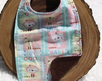 Baby girl animal bib