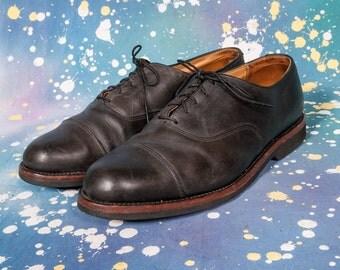 COLE HAAN Black Cap Toe Dress Shoes Men's Size 10 .5 D