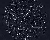 Washington Constellation Print, 8.5 x 11