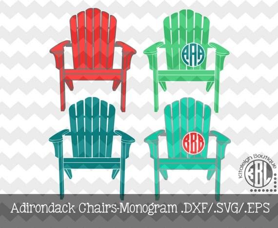 adirondack chair silhouette monogram adirondack chairs dxf svg eps