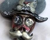 Steampunk Skeleton Head Pendant