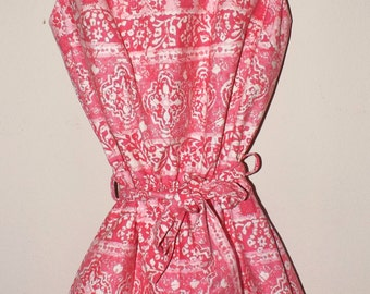 Vintage 1950s Play Suit. Playsuit Romper. Cole of California. Pink Cotton Print. Pin Up. Medium.