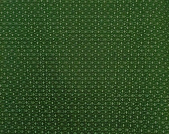 NEW Marcus Brothers Fabric, Gallery in Dark Green,  OOP, 0279, Dots and Dashes, Dark Green