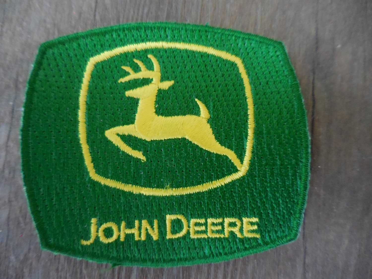 John Deere Rug john deere sew on/iron on patch small green and yellow sewing