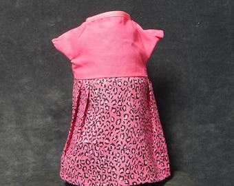 Rag Doll Dress - Pink and Leopard Print