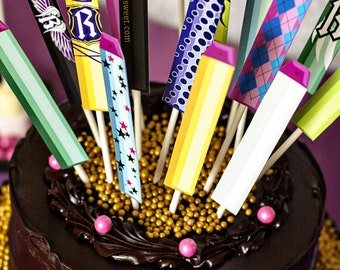 Nerf Rebel Girl Cake Topper Darts - Party Printable Decorations - INSTANT DOWNLOAD