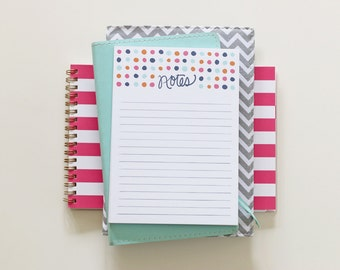 Polka Dot Notepad - 5x7 inches
