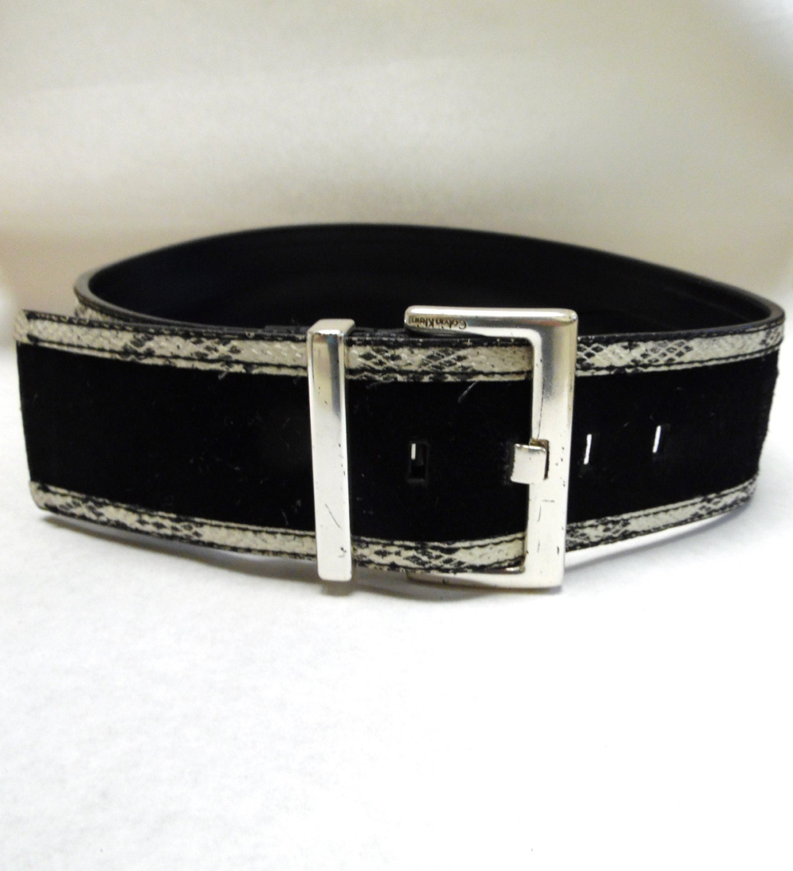 Wide Black And White Belt Calvin Klein Corset Belt Waist Cinch
