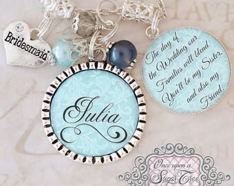 Personalized BRIDESMAID Necklace -Gifts From Bride -Bridal Party Gifts -Sister in Law Wedding Gift - Bridal Shower Gift - Maid Of Honor Gift