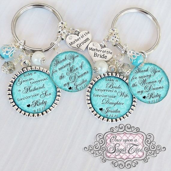 Keychain For Wedding Gift : ... Thank you Gifts for Parents- Gift from Groom -Gift from Bride Wedding
