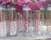 Personalized Tumbler, Bridal Party Gifts, Bachelorette Party, Wedding, Favors,